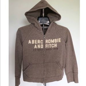 Abercrombie and Fitch Light Brown hoodie youth L